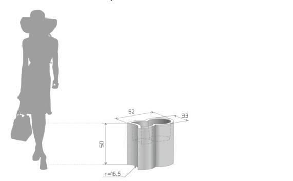 PD Concept 50 cm Donica Addpot ST-ADDPOT50 Czarna