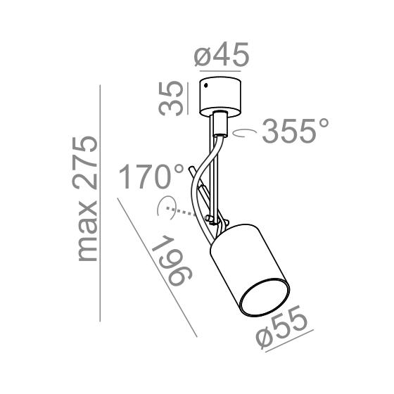Reflektor PETPOT AQform 13311-0000-U8-PH-03