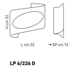 ATENE LP 6/226D bursztynowy/miedziany 33 x 32 cm Kinkiet Sillux