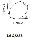 ATENE LS 4/226 Plafon Sillux  45 x 35 cm