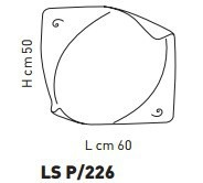ATENE LS P/226 Plafon Sillux 60 x 50 cm