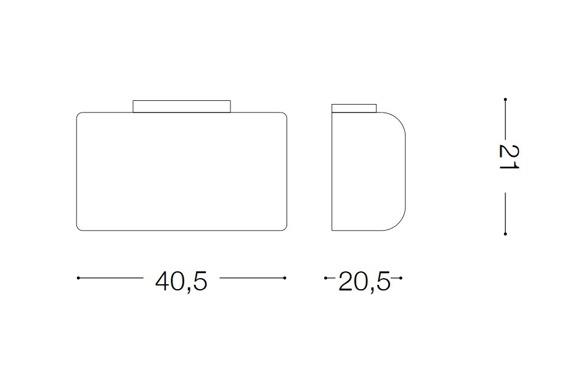 AUDI-61 AP4 133911 Lampa ścienna Ideal Lux chrom