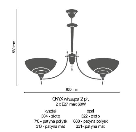 Amplex Onyx 331 Zwis patyna mat