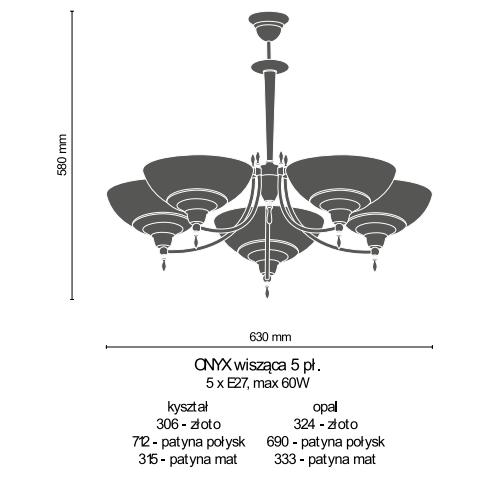 Amplex Onyx 690 Zwis patyna połysk