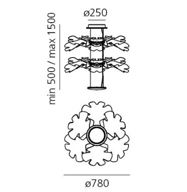 Artemide Chlorophilia 1628110A Zwis