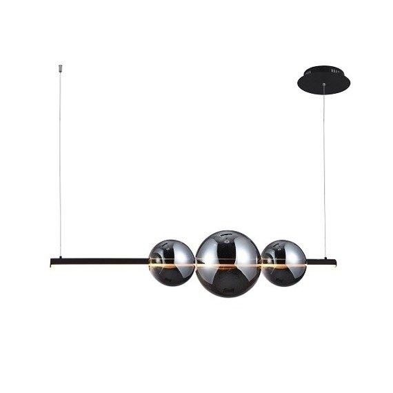Azzardo Sandra 3 AZ3352 Zwis LED czarny 4800 lm