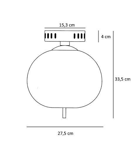 Berella Light Peonia Plafon 1 x 12 W LED