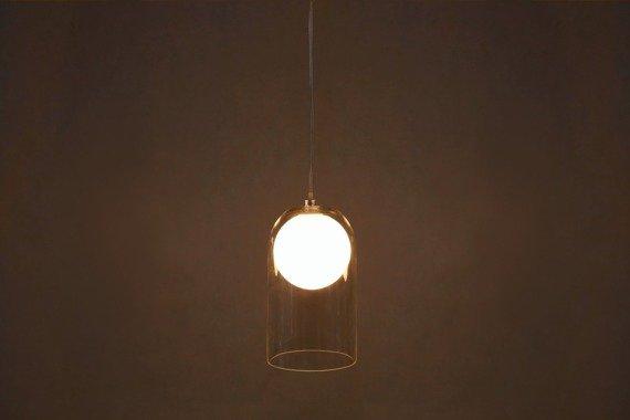 Berella Light Tiga 1 Zwis nad stół biały/transprarentny