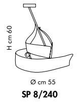 CAPRI SP 8240 Oprawa Wisząca bursztyn/antyczny brąz Sillux