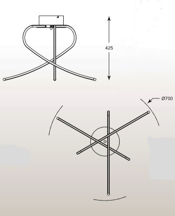 Carello PL1100014-3 Plafon Ledowy Zuma Line