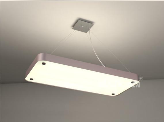 Cleoni Argon prostokąt 662 x 350 Lampa wisząca