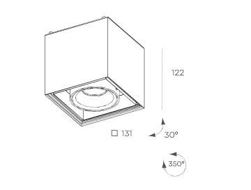 Cube  8207.02 Plafon BPM Lighting