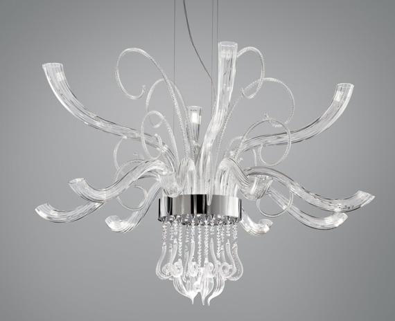 Elysee L12  Włoska Oprawa Wisząca Leucos transparentna LED