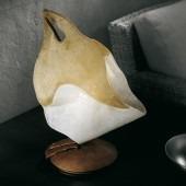 FIRENZE LT 2/212 bursztynowy/miedziany Lampa Stołowa Sillux 48 cm
