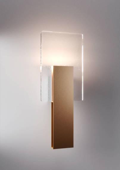Fabbian Amullette Kinkiet LED w kolorze złotym z naturalną barwą światła