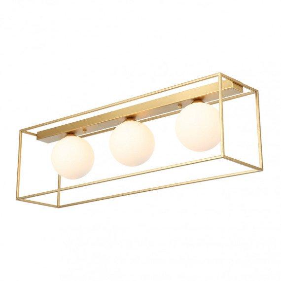 Geometryczna Lampa sufitowa Italux Mediamo białe kule