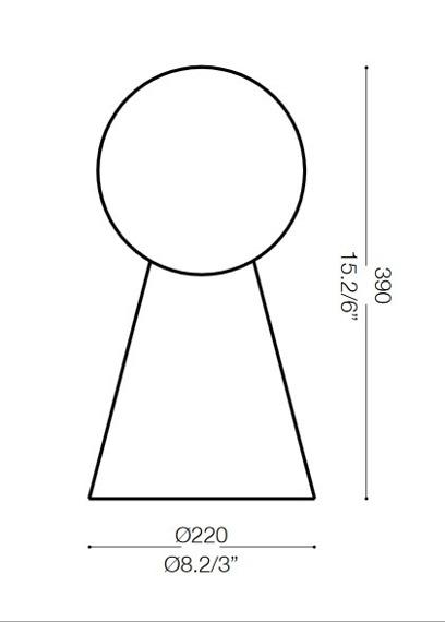 Ideal Lux Lampa nocna srebrno szara BIRILLO TL1 MEDIUM 116587