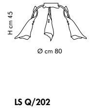 KINGSTON LS Q/202 amber miedziany Plafon Sillux
