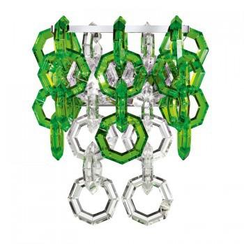 Kinkiet Facon de Venise MISSTRASS AP transparent/lime green