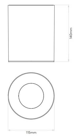 Kos Round  LED 1326017 Plafon Astro