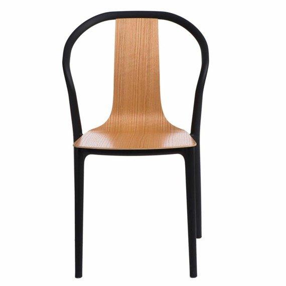 Krzesło Bella czarne/naturalne