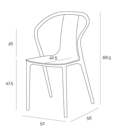 Krzesło Bella czarne/żółte
