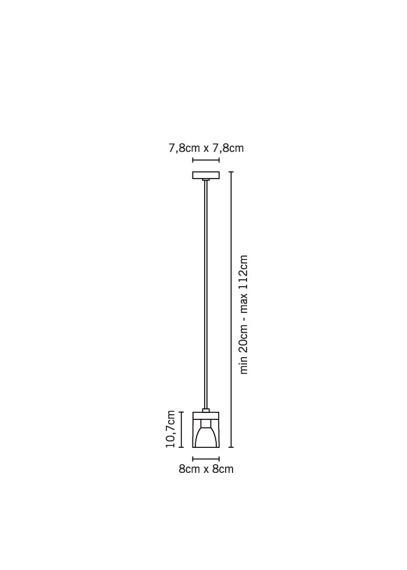 Lampa Fabbian CUBETTO CRYSTAL D28 A01 00