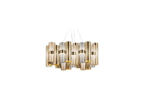Lampa SLAMP La Lollo L Gold Fume