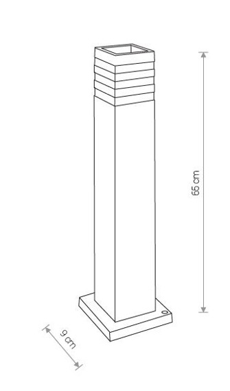 Lampa Stojąca Zewnętrzna Nowodvorski Oir 9158