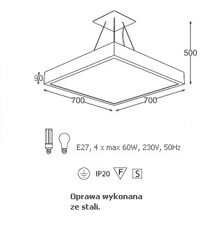 Lampa Wisząca Cleoni NEKLA 70