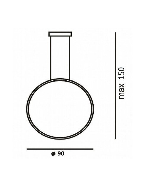 Lampa Zwieszana Ledowa Ramko Echo Vertical 67951 czarna 90 cm