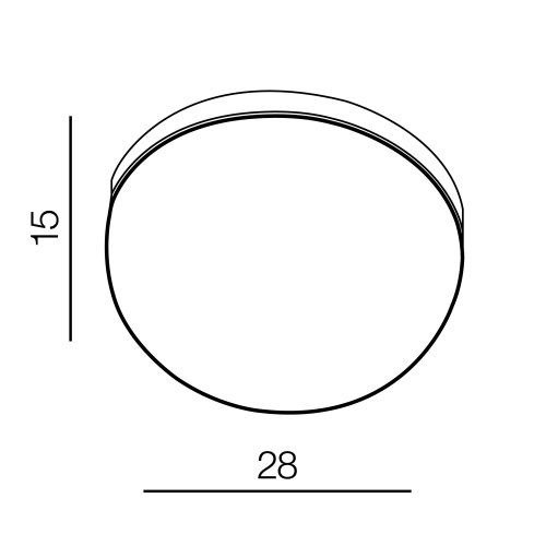 Lampa łazienkowa okrągła 28 cm Azzardo Kallisto w kolorze czarnym