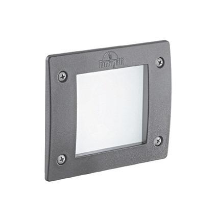 Lampa najazdowa Ideal Lux LETI Square FL1 Szara