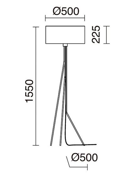 Lampa stojąca Diagonal 855A-G05X1A-37 Novolux Exo