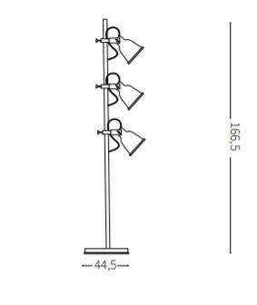 Lampa stojąca Ideal Lux Maurien PT3