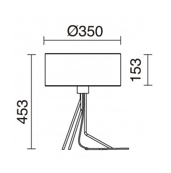 Lampa stolikowa Diagonal 855C-G05X1A-37 Novolux Exo