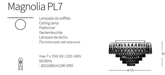 Lampa sufitowa Ideal Lux Magnolia PL7 styl klasyczny