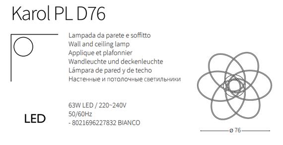 Lampa sufitowa biała LED Ideal Lux Karol PL D76
