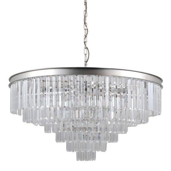 Lampa wisząca Italux PND-44372-14A-SLVR-BRW Verdes Ø85cm