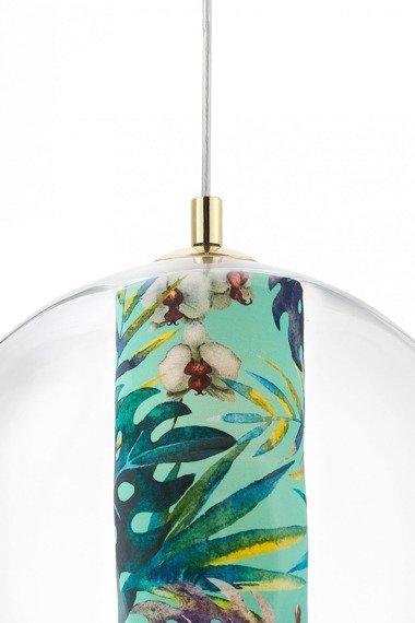 Lampa wisząca z motywem botanicznym Feria L Kapsa
