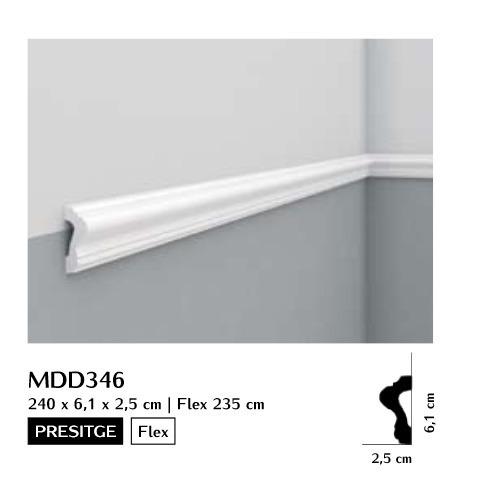 Listwa ścienna gładka Mardom MDD346
