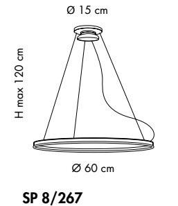 MALE SP 8/267 Oprawa Wisząca LED Sillux