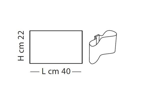 MUGELLO LP 1051/40 biały Kinkiet Lampade Italiane
