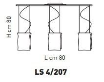 MURANO LS 4/207 Plafon Sillux