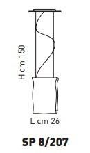 MURANO SP 8207  26cm Oprawa Wisząca Sillux