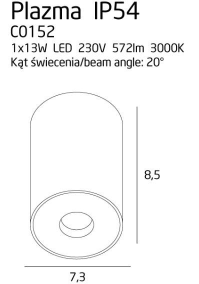 MaxLight Plazma C0152 Spot biały