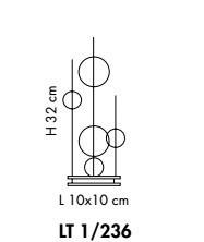 NIAGARA LT 1/236 crystal Lampka Stolikowa Sillux