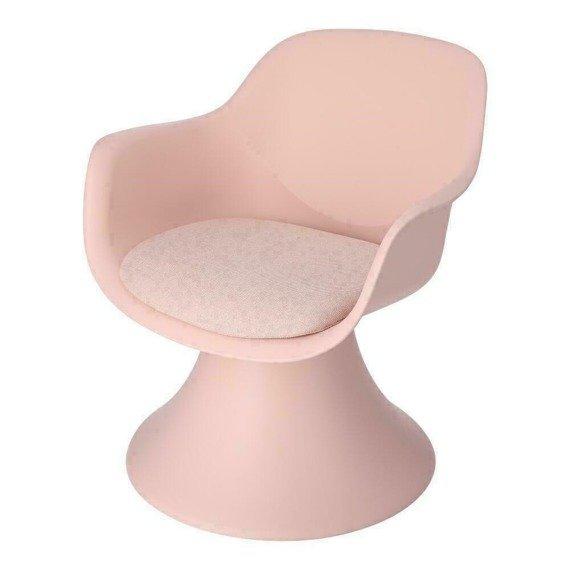 Nowoczesny fotel pudrowy róż Lollipop