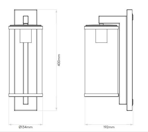 Oprawa Ścienna Astro Pimlico 1413002 Brąz