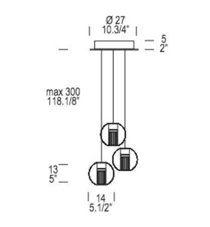 Oprawa Wisząca Leucos Fairy SS-R3 14 cm okrągła